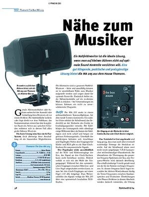 Tastenwelt Test: Thomann The Box MA 205 - Aktiver Monitor
