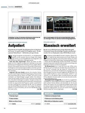Tastenwelt Kurztests: Korg M3 System-Update, Roland ARX-02, Thomann SP-5100