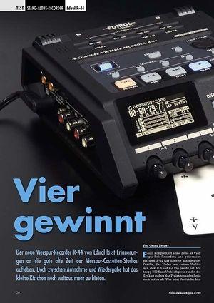 Professional Audio Vier gewinnt: Edirol R-44