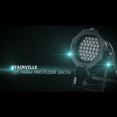 Stairville LED PAR64 PRO Floor 36x3W