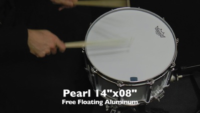 Pearl 14x08 Free Floating Aluminum Snare
